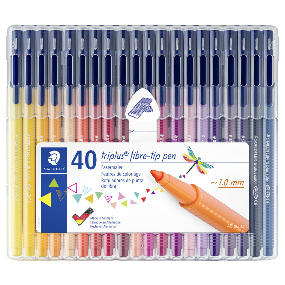 Staedtler Triplus Colour Pen 323 Assorted Box of 40