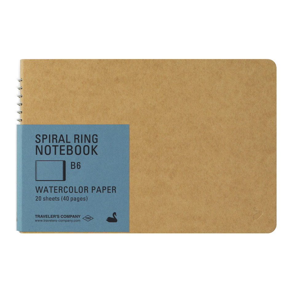 TRAVELER'S COMPANY Notebook Spiral Ring B6 Watercolour Paper