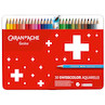 Caran d'Ache Swisscolor Water-Soluble Colouring Pencils Metal Box of 30